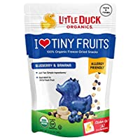 Little Duck Organics Tiny Freeze Dried Fruit Snack, Blueberry/Banana, 6 Count