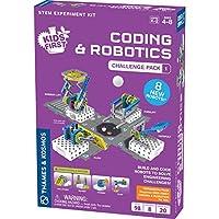 Thames & Kosmos 儿童初学编码和机器人技术玩具:面向初学者的挑战套装1科学实验套件| 面向儿童的初学编码和机器人扩展包