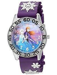 DISNEY 女童冰雪奇缘 2 模拟石英手表塑料表带,紫色,16(型号:WDS000778)