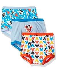 Disney Toddler Boys' Mickey Mouse 3pk Training Pant, Mickey Multi, 4T