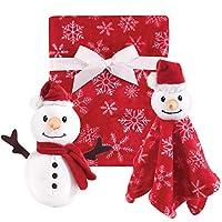 Hudson Baby 毛绒毯和动物*毯套装 雪人 均码
