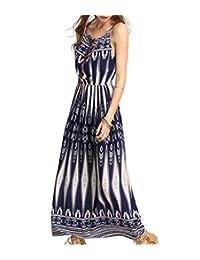Ayliss 女式夏威夷复古吊带印花波西米亚长裙沙滩裙