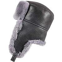 Zavelio 男式羊皮骑兵俄罗斯南瓜冬季毛皮帽