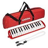 CASCHA HH 2059 旋律带盒和吹嘴,儿童和初学者乐器,红色