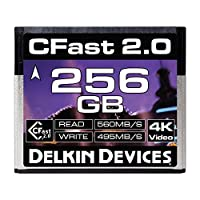 delkin 128GB 影院 cfast 2.0 *卡 (DDCFST560128) 256GB