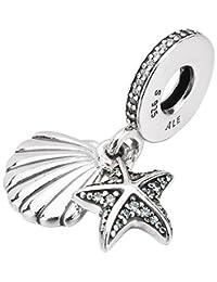 Pandora 潘多拉 丹麦品牌 热带海星和贝壳925银串饰792076CZF
