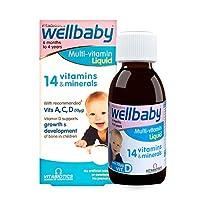 (跨境自营)(包税) 英国Vitabiotics Wellbaby婴儿14种?#26149;?#32500;生素补铁补锌营养液150ml
