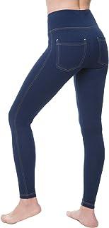 NIRLON 女士高腰收腹牛仔裤打底裤带口袋加大码