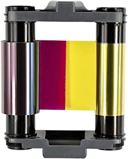 CBGR0100C YMCKO 丝带全彩色丝带适用于 Evolis Badgy 100 Badgy 200 张卡打印机,100 张印花
