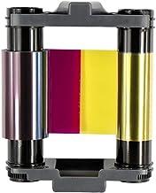 CBGR0100C YMCKO 絲帶全彩色絲帶適用于 Evolis Badgy 100 Badgy 200 張卡打印機,100 張印花