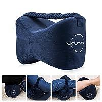 NATUMAX 侧边睡枕 - Sciatica 缓解* - 背部*、腿部*、怀孕、臀部和关节**泡沫腿枕 + 免费*面具和耳塞