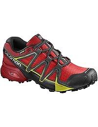 SALOMON 男式 speedcross vario 2GTX 越野跑鞋,黑色,合成面料 / 纺织品