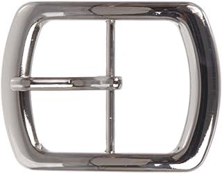 "1 3/4"" (44 mm) Nickel Free Center Bar Single Prong Oval Belt Buckle"