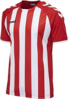 Hummel 团队球衣,透气 - CORE 条纹运动衫 - 男士条纹训练衫 - 运动短袖 T 恤 - 运动服 不同颜色可选