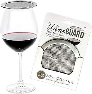 WineGuard Singles in Sleeves - 不锈钢酒杯和玻璃杯盖,户外保护酒 - 单件装