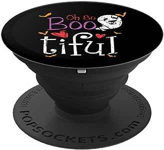 Oh So Boo-tiful 美丽万圣节礼物派对儿童服装 PopSockets 手机和平板电脑握架260027  黑色