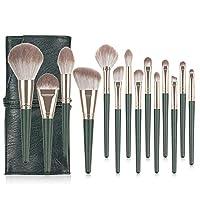 化妆刷 14 件套化妆刷套装,高级合成粉底刷,混合脸粉腮红(14 支化妆刷带袋,*)