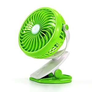 USB 风扇 360 旋转个人夹或桌扇 适用于飓风、汽车、婴儿手推车和户外 *