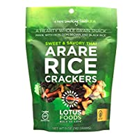 Lotus Foods Gourmet Gluten Free Arare Rice Crackers, Sweet/Savory Thai, 8 Count