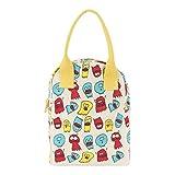 毛边拉链午餐袋,有机棉 Jelly Ghosts 0613739736562