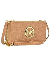 MKP 收藏卡包钱包 ~ 拉链环绕和扭锁钱包。 女士钱包,女士钱包。女士时尚钱包