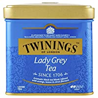 Twinings of London Lady Grey Loose Tea Tins, 3.53 Ounces (Pack of 6)