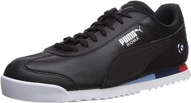 PUMA 男士 BMW Roma 运动鞋 黑色/黑色 7.5