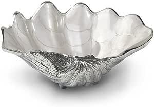 Julia Knight Tahitian Clam Shell Bowl, 8-Inch, Snow