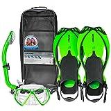 HEAD Pirate 青少年优质青年面罩脚踏*管套装带旅行包