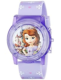 Disney Sofia the First 儿童 SOF1561SR 数码显示 Analog 石英手表,紫色