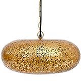 Emporio Arts Emporio Moroccan 灯手工装饰马拉喀什悬挂式铁灯轮轮胎造型米饭,铁色,金色,E27,40 瓦