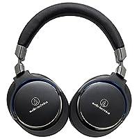 Audio-Technica 铁三角 ATH-MSR7 BK 便携头戴式HiFi耳机 高解析音质 黑色
