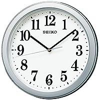 SEIKO 精工 指针挂钟 电波 小巧型 银色金属外框 KX379S SEIKO