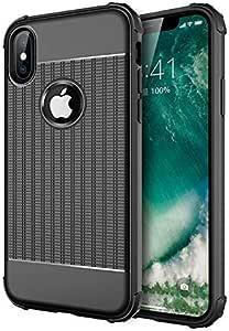 iPhone Xs Max 手机壳 2018,*级防摔,减震,TPU,超薄,柔软,兼容 Ipple iPhone Xs Max 6.5 英寸 黑色