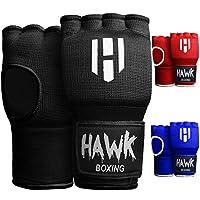 Hawk 加垫内手套训练凝胶弹性护手绷带适用于拳击手套快速缠绕男士和女士踢拳泰拳拳关节护腕护腕(一对)