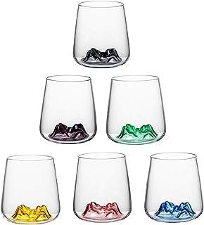威士忌玻璃杯,*好的老式玻璃杯,苏格兰,波本酒或酒吧饮料,华丽的山形设计