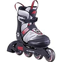 K2 滑板青年 Raider 直排溜冰鞋,灰色/红色 Small (11-2) 30D0101