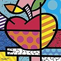 苹果品牌 Romero Britto 水果抽象当代儿童海报(选择印刷尺寸) 11x14 Print BM-B4208pfb