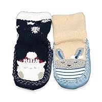 CoCoCoCute Baby 幼童卡通可爱厚冬季保暖防滑防滑地板袜拖鞋棉质学步鞋