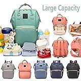 Reliancer 大容量尿布袋适用于婴儿护理多功能防水旅行尿布袋背包时尚哺乳袋,带隔热口袋 7 种颜色 绿色