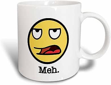 3dRose mug_157426_3 Meh Cartoon Face, Magic Transforming Mug, 11-Ounce