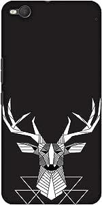 AMZER 修身款手工制作设计师印花硬壳手机壳后盖 适用于 HTC One X9 - 几何花 3AMZ601040154182 Geometric Deer Geometric Deer