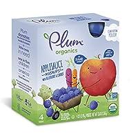 Plum Organics 苹果 蓝莓 胡萝卜混合果泥 辅食 90g*4包*6盒装