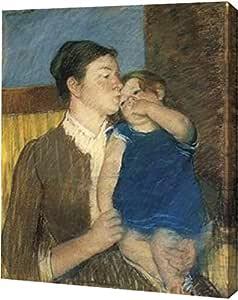 "PrintArt ""Young Mother 1888"" Mary Cassatt 画廊装裱艺术微喷油画艺术印刷品 13"" x 16"" GW-POD-64-372761-13x16"