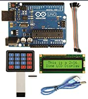 Robokart Arduino UNO with pack of( LCD ,Usb cable,keypad,20 female to female connector)
