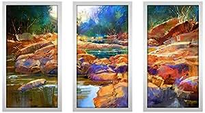 "Picture Perfect International 704-2199-1224 ""Razzle Dazzle Drizzle 1"" Framed Plexiglass Wall Art, Set of 3, 13.5"" W x 25.5"" H x 1"" D"