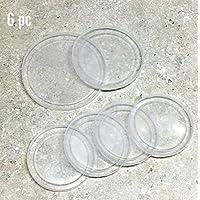 ALAZCO 不含双酚 A 的罐盖 - 大号中号和小型塑料密封盖 适用于罐装物品或宠物狗猫粮保鲜器可重复使用 6pc Set