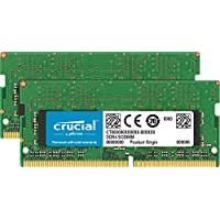 Crucial 32GB 套件 (16GBx2) DDR4 2666 MT/s (PC4-21300) CL19 DR x8 SODIMM 260-Pin Mac - CT2K16G4S266M