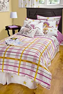 Rizzy Home Girls Punk Animal Plaid 2-Piece Comforter Set, Twin