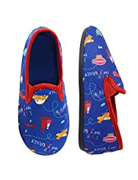LA PLAGE 儿童冬季秋季短午睡衬里防滑鞋底保暖舒适室内户外拖鞋